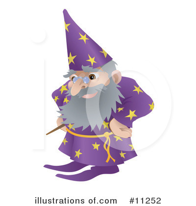 Wizard Clipart #11252 by AtStockIllustration