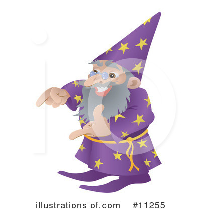 Magician Clipart #11255 by AtStockIllustration