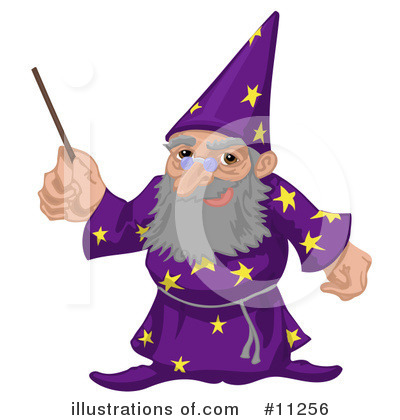 Wizard Clipart #11256 by AtStockIllustration