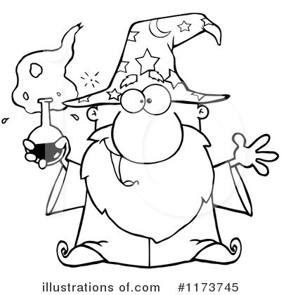 Wizard Clipart #1173745 by Hit Toon