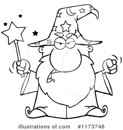 Wizard Clipart #1173746 by Hit Toon
