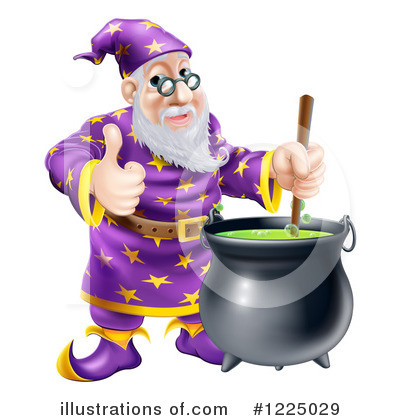 Wizard Clipart #1225029 by AtStockIllustration