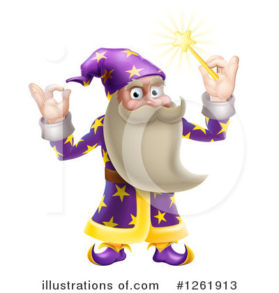 Wizard Clipart #1261913 by AtStockIllustration