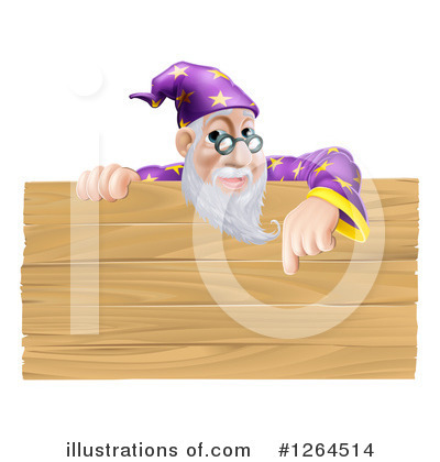 Wizard Clipart #1264514 by AtStockIllustration