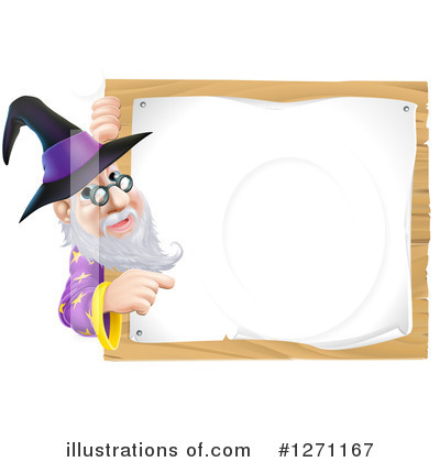 Wizard Clipart #1271167 by AtStockIllustration