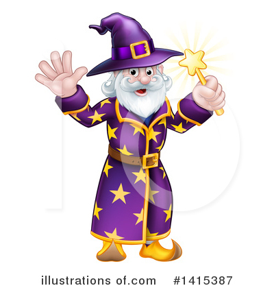 Wizard Clipart #1415387 by AtStockIllustration
