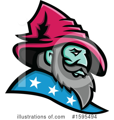 Royalty-Free (RF) Wizard Clipart Illustration by patrimonio - Stock Sample #1595494