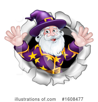 Wizard Clipart #1608477 by AtStockIllustration