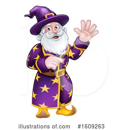 Royalty-Free (RF) Wizard Clipart Illustration by AtStockIllustration - Stock Sample #1609263