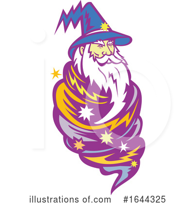 Royalty-Free (RF) Wizard Clipart Illustration by patrimonio - Stock Sample #1644325
