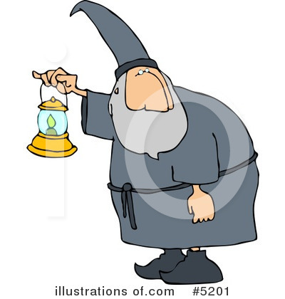 Royalty-Free (RF) Wizard Clipart Illustration by djart - Stock Sample #5201