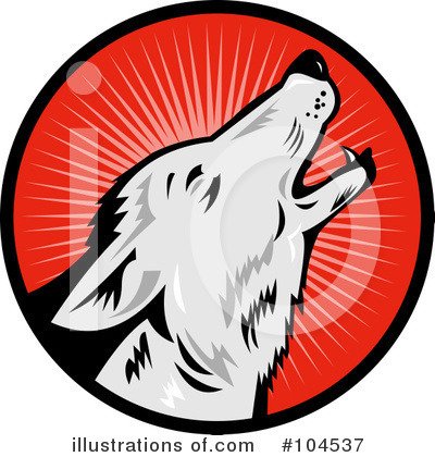Royalty-Free (RF) Wolf Clipart Illustration by patrimonio - Stock Sample #104537