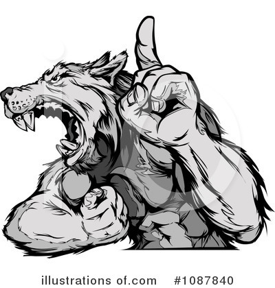 Royalty-Free (RF) Wolf Clipart Illustration by Chromaco - Stock Sample #1087840