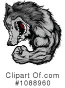 Royalty-Free (RF) Wolf Clipart Illustration #1088960