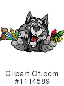 Royalty-Free (RF) Wolf Clipart Illustration #1114589