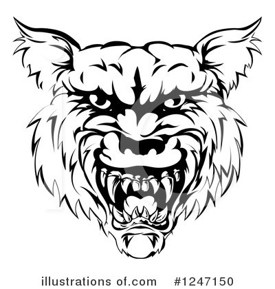 Wolf Clipart #1247150 by AtStockIllustration