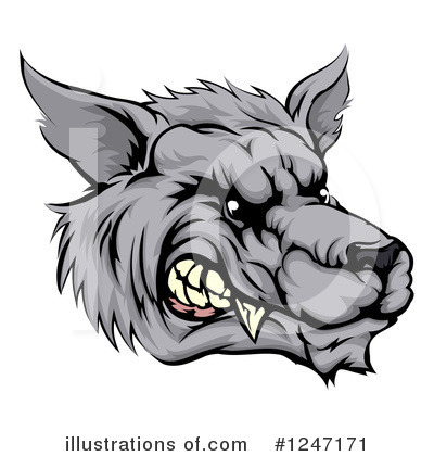 Wolf Clipart #1247171 by AtStockIllustration