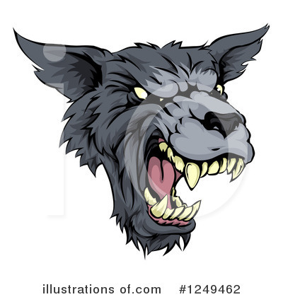 Wolf Clipart #1249462 by AtStockIllustration