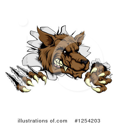 Werewolf Clipart #1254203 by AtStockIllustration