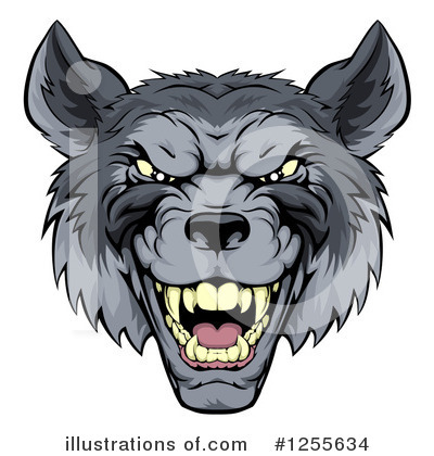 Wolf Clipart #1255634 by AtStockIllustration