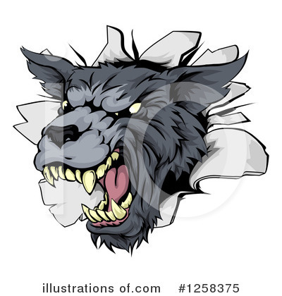Wolf Clipart #1258375 by AtStockIllustration