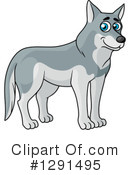 Royalty-Free (RF) Wolf Clipart Illustration #1291495