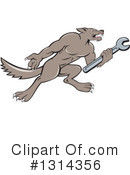 Royalty-Free (RF) Wolf Clipart Illustration #1314356