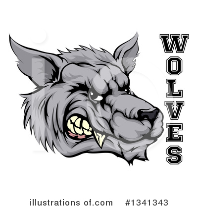 Wolf Clipart #1341343 by AtStockIllustration