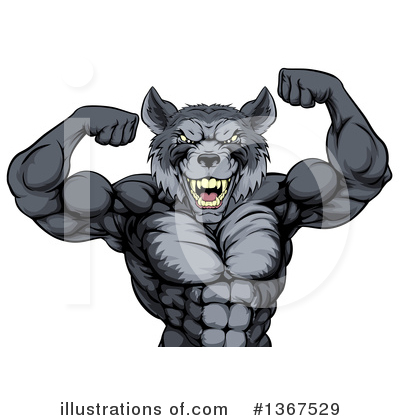 Royalty-Free (RF) Wolf Clipart Illustration by AtStockIllustration - Stock Sample #1367529