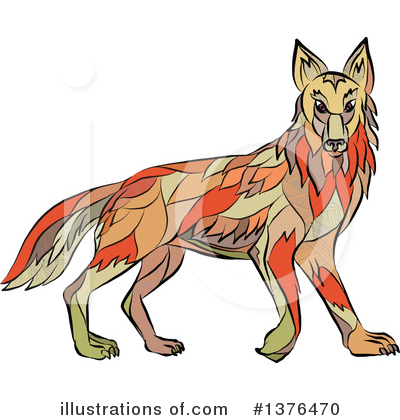 Coyote Clipart #1376470 by patrimonio