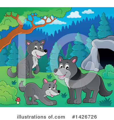 Wolf Clipart #1426726 by visekart