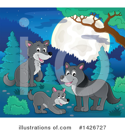 Wolf Clipart #1426727 by visekart