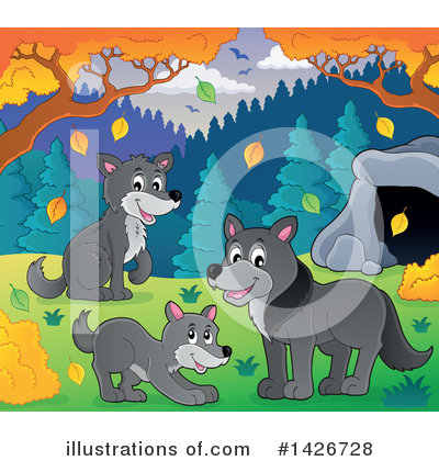 Royalty-Free (RF) Wolf Clipart Illustration by visekart - Stock Sample #1426728