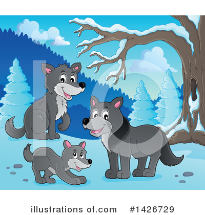 Wolf Clipart #1426729 by visekart