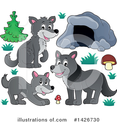 Royalty-Free (RF) Wolf Clipart Illustration by visekart - Stock Sample #1426730