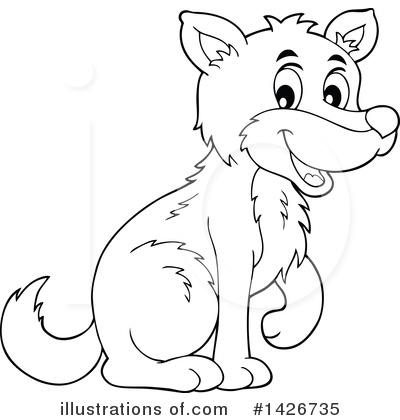Wolf Clipart #1426735 by visekart