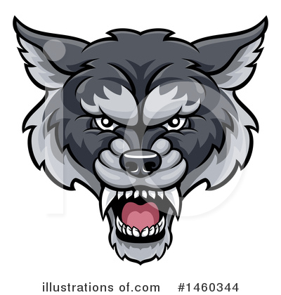 Wolf Clipart #1460344 by AtStockIllustration