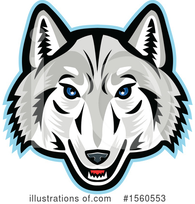 Royalty-Free (RF) Wolf Clipart Illustration by patrimonio - Stock Sample #1560553