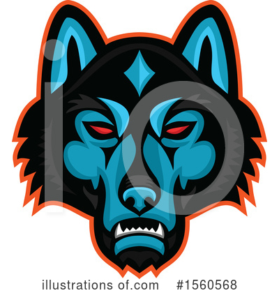 Royalty-Free (RF) Wolf Clipart Illustration by patrimonio - Stock Sample #1560568