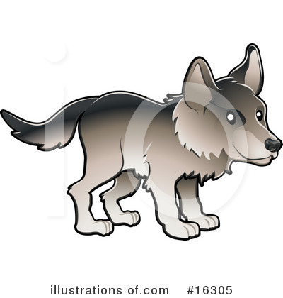 Wolf Clipart #16305 by AtStockIllustration