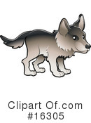 Royalty-Free (RF) wolf Clipart Illustration #16305