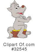 Royalty-Free (RF) Wolf Clipart Illustration #32545