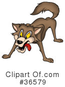 Royalty-Free (RF) Wolf Clipart Illustration #36579