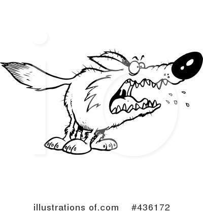 Wolf Clipart #436172 by toonaday