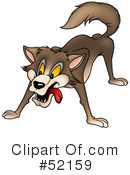 Royalty-Free (RF) Wolf Clipart Illustration #52159