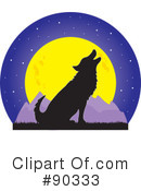 Royalty-Free (RF) Wolf Clipart Illustration #90333