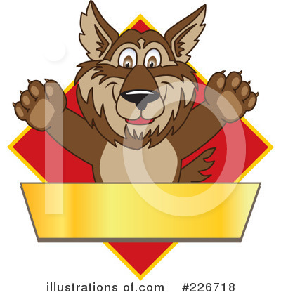 Wolf Mascot Clipart #226718 by Toons4Biz