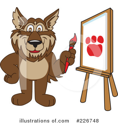 Wolf Mascot Clipart #226748 by Toons4Biz