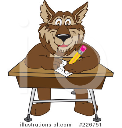 Wolf Mascot Clipart #226751 by Toons4Biz