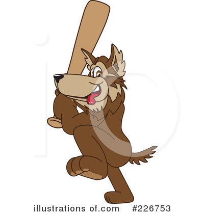 Wolf Mascot Clipart #226753 by Toons4Biz